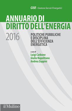 copertina Annuario di Diritto dell'energia 2016